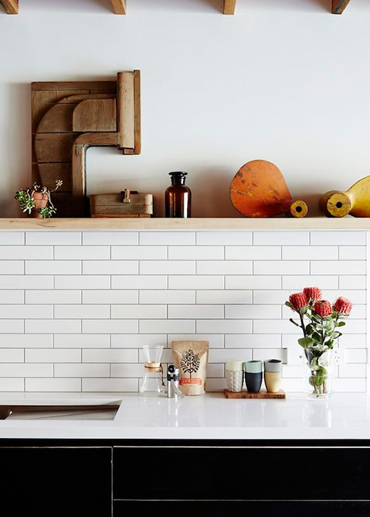 kitchen with a pop of orange / sfgirlbybay