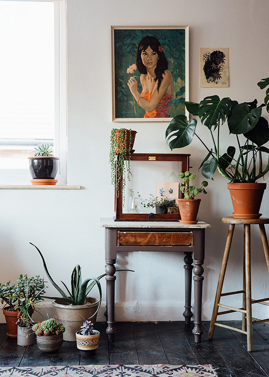 creative workspace of the future kept shop owners filled with houseplants and art. / sfgirlbybay