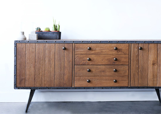 wood and metal cabinet from furniture maison / sfggirlbybay