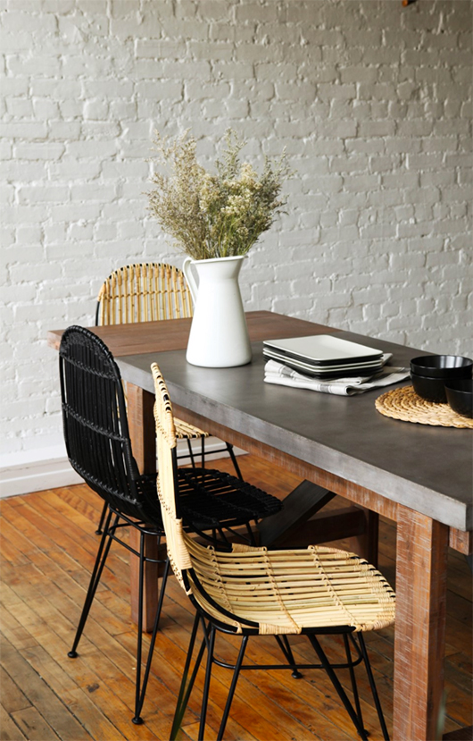 woven dining chairs from furniture maison / sfgirlbybay