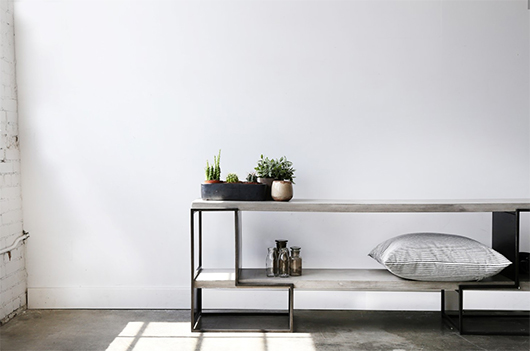 industrial concrete and metal table from furniture maison / sfgirlbybay