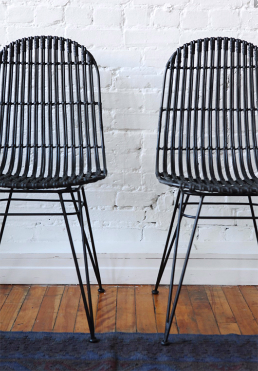black chairs from furniture maison / sfgirlbybay