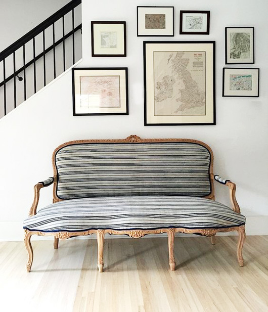 settee with striped upholstery / sfgirlbybay