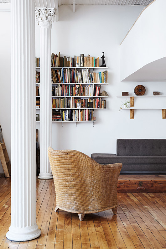 tribeca loft of Parsons graduate and designer daniela jacobs via sight unseen. / sfgirlbybay