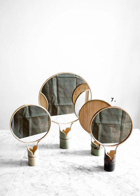 handmade mirrors in bamboo from fine little day. / sfgirlbybay