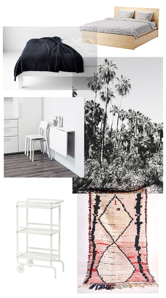 decor and furnishings for studio apartment. / sfgirlbybay