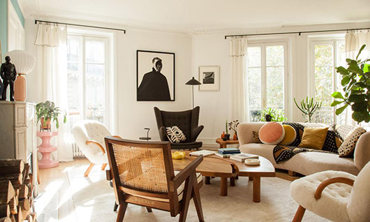 modern living room decor in paris apartment. / sfgirlbybay