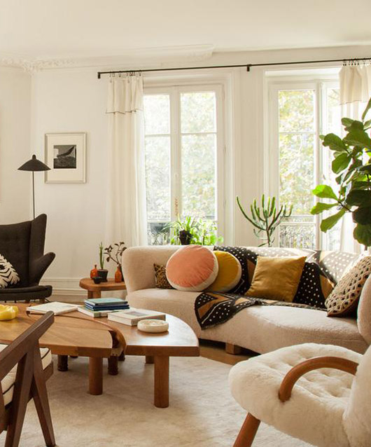 cheerful and modern living room in paris. / sfgirlbybay