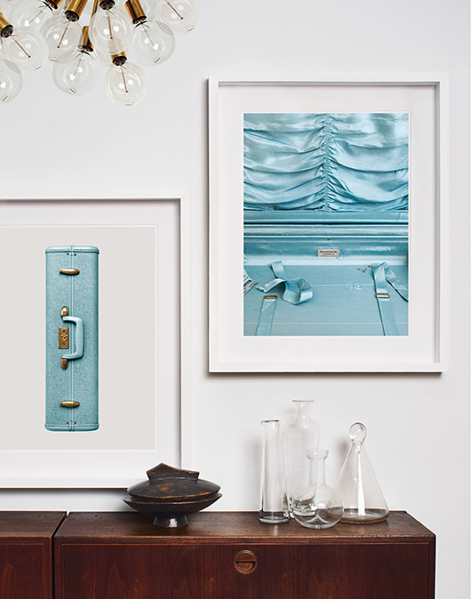 framed blue art prints from permanent press editions. / sfgirlbybay