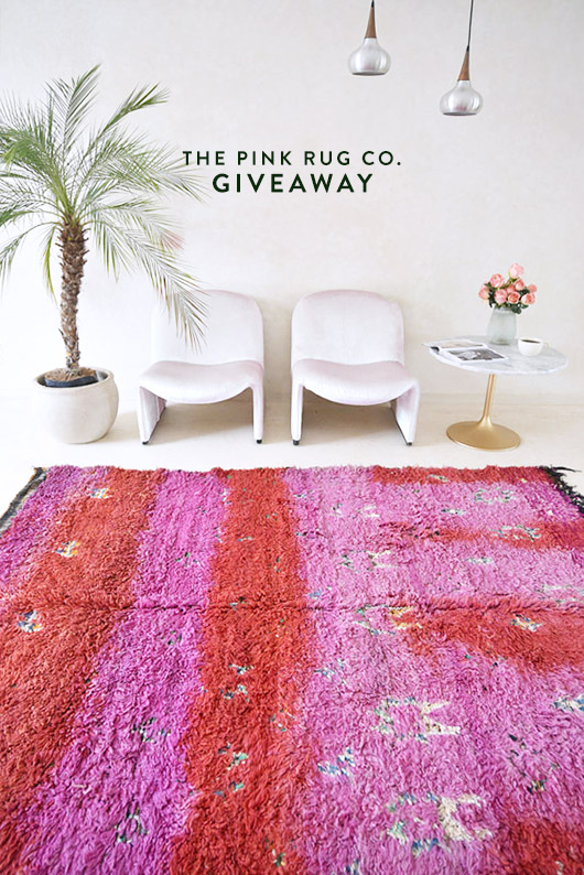 Giveaway from the Pink Rug Co. / sfgirlbybay
