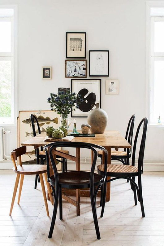 bentwood dining chairs. / sfgirlbybay
