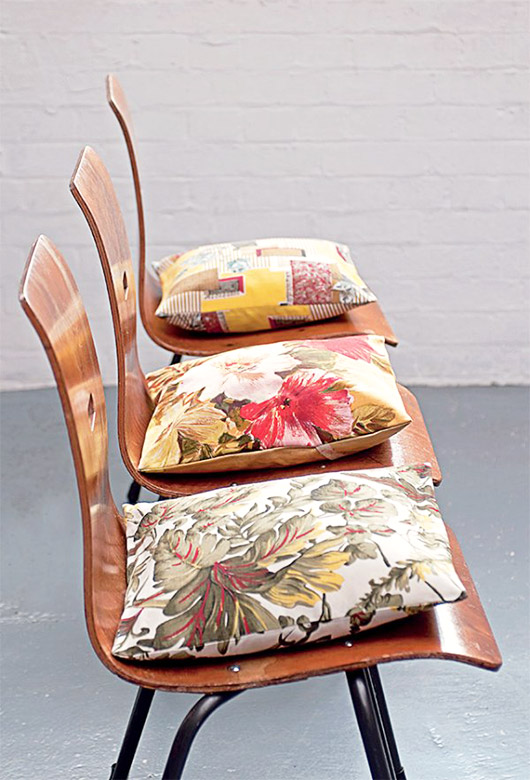 vintage throw pillows and chairs. / sfgirlbybay