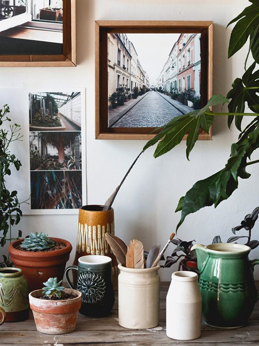 collection of ceramic pots and pictures. / sfgirlbybay