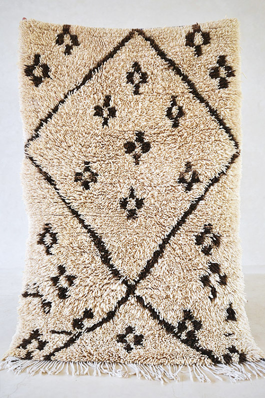black and off-white moroccan shag rug from the Pink Rug Co. / sfgirlbybay