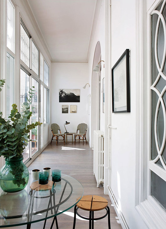 sun room in the home of interior designers A & B curated. / sfgirlbybay