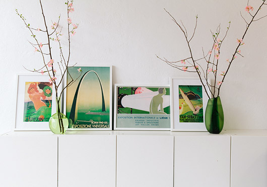 art collection inspired by pantone's color of the year: greenery. / sfgirlbybay
