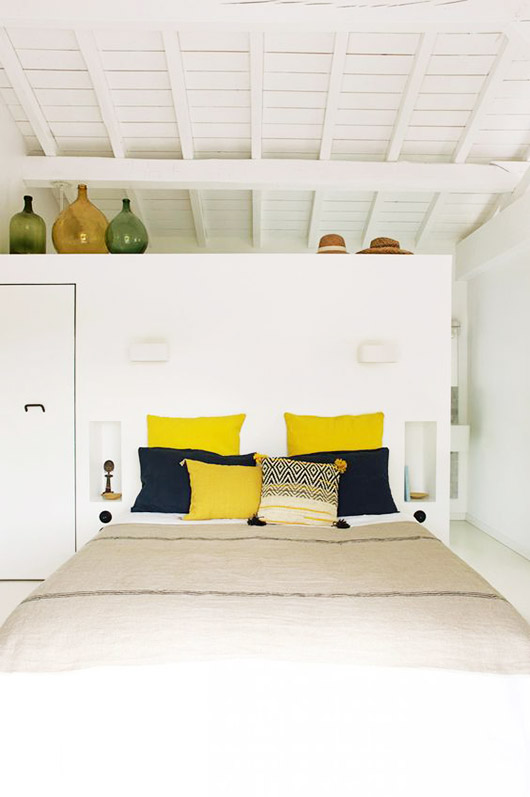 green, black and yellow home furnishings. / sfgirlbybay