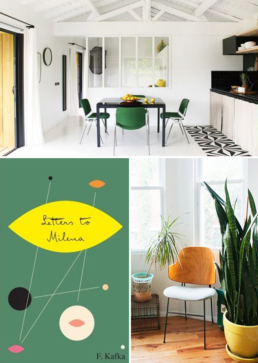green, black and yellow decor. / sfgirlbybay
