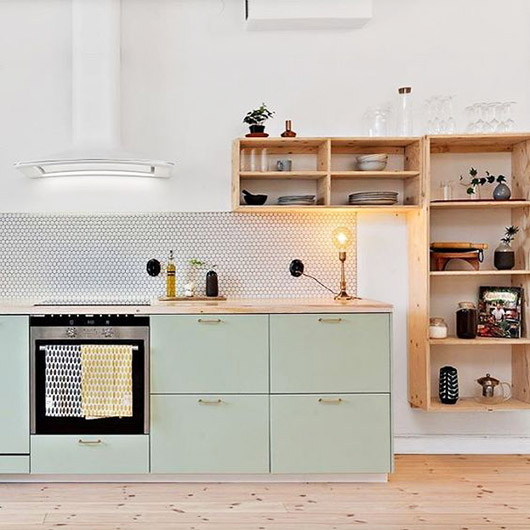 mint green cabinetry. / sfgirlbybay