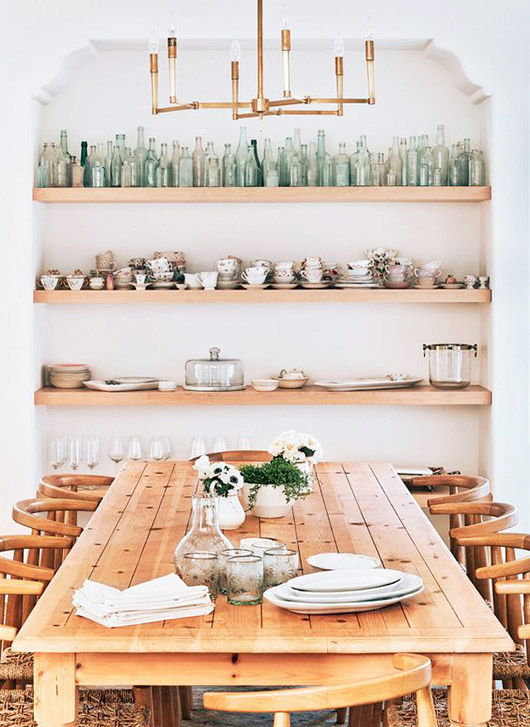 lauren conrad's collection of green glassware. / sfgirlbybay