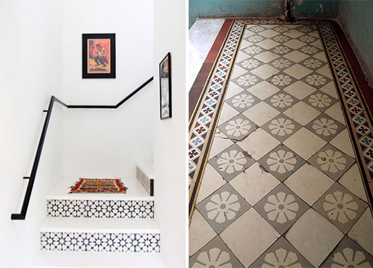 unique patterned tile work. / sfgirlbybay