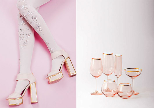pink and gold valentine's day inspiration. / sfgirlbybay