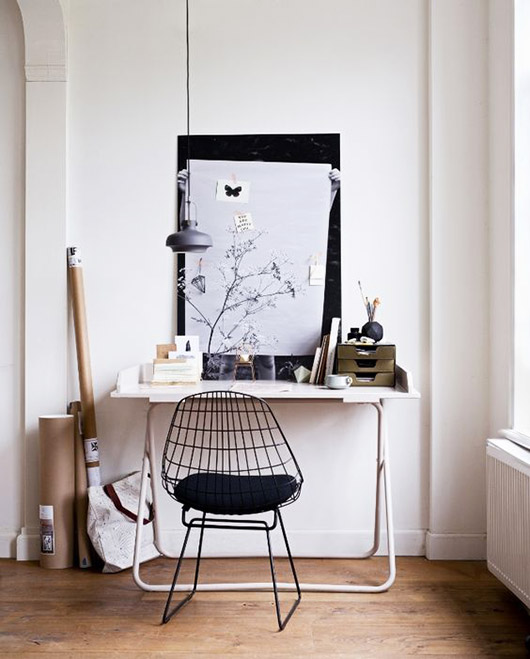 modern black and white work space. / sfgirlbybay