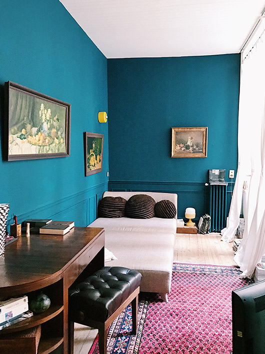 blue walls at the pension edelweiss in marseille. / sfgirlbybay
