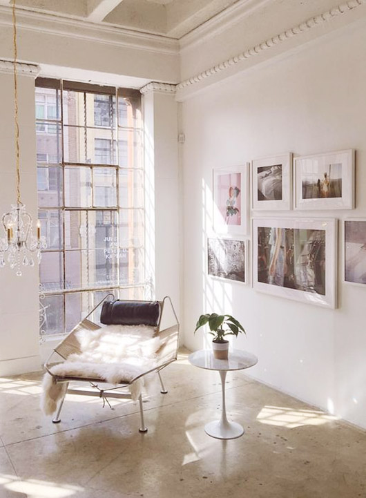 light filled space with art gallery wall. / sfgirlbybay