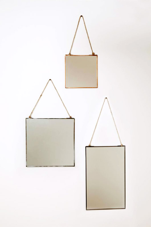brass framed vintage hanging mirrors. / sfgirlbybay