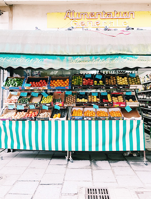 french fruit stand. / sfgirlbybay