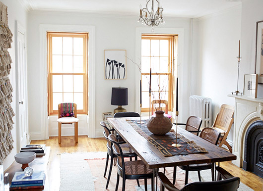 dining room tour in Lizzie Fortunato's home. / sfgirlbybay