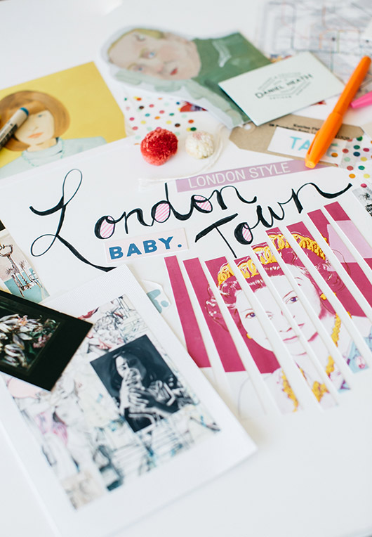 my london themed art project for minted 50 / sfgirlbybay