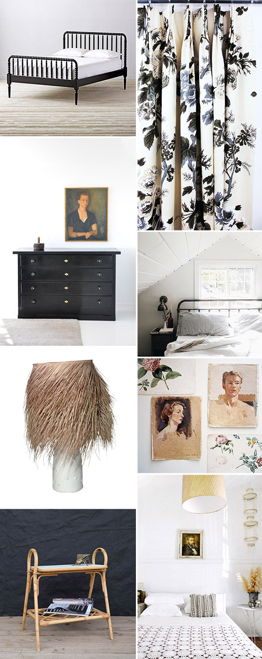 guest bedroom decor elements. / sfgirlbybay