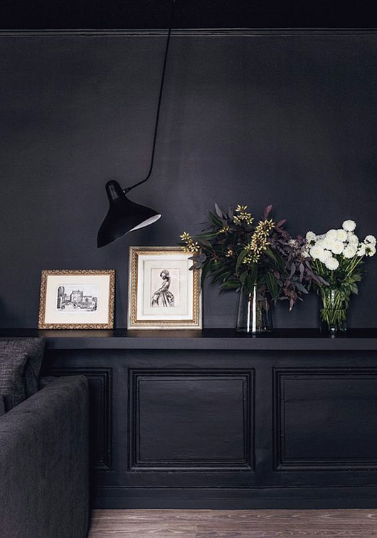 black wall paint. / sfgirlbybay