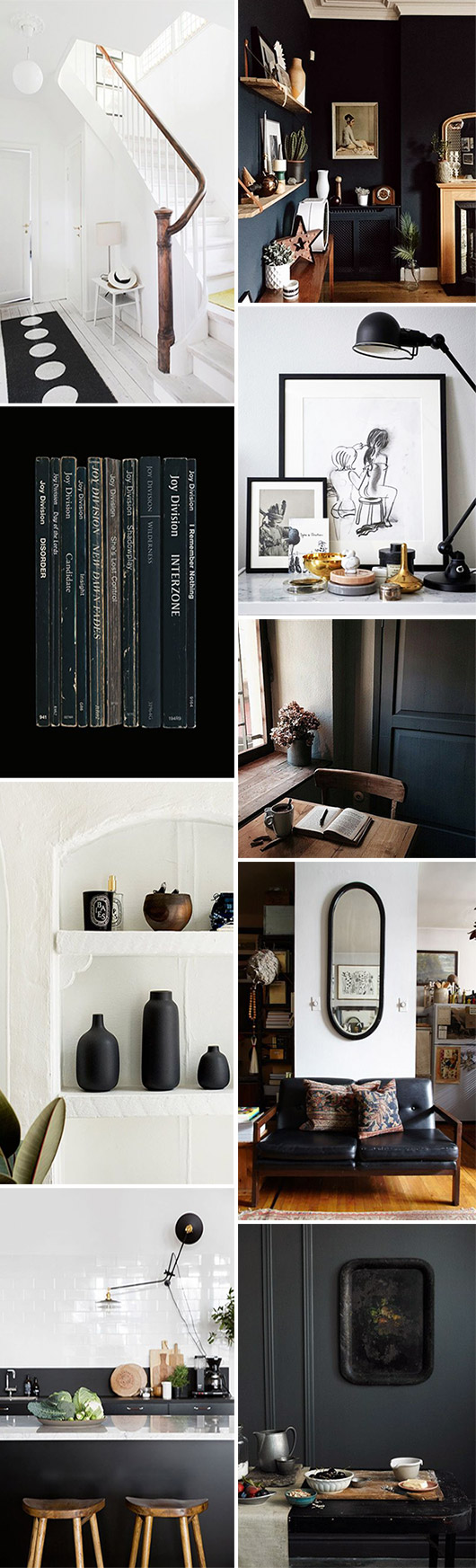 black and white home decor inspiration. / sfgirlbybay