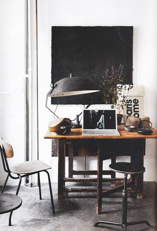 black decor accents. / sfgirlbybay
