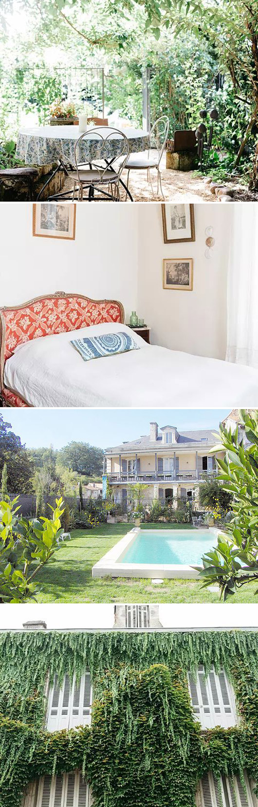 mignonne decor's lush getaways stay in 17th century manor in france. / sfgirlbybay
