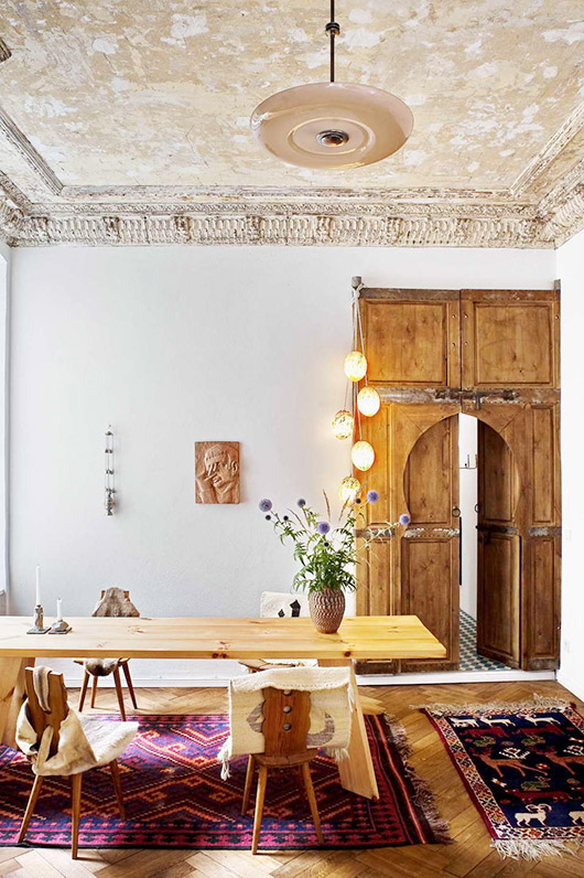 a multi-cultural home in berlin via milk decoration. / sfgirlbybay