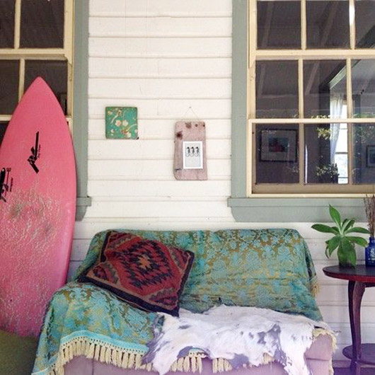 beach house porch with bohemian vibe. / sfgirlbybay