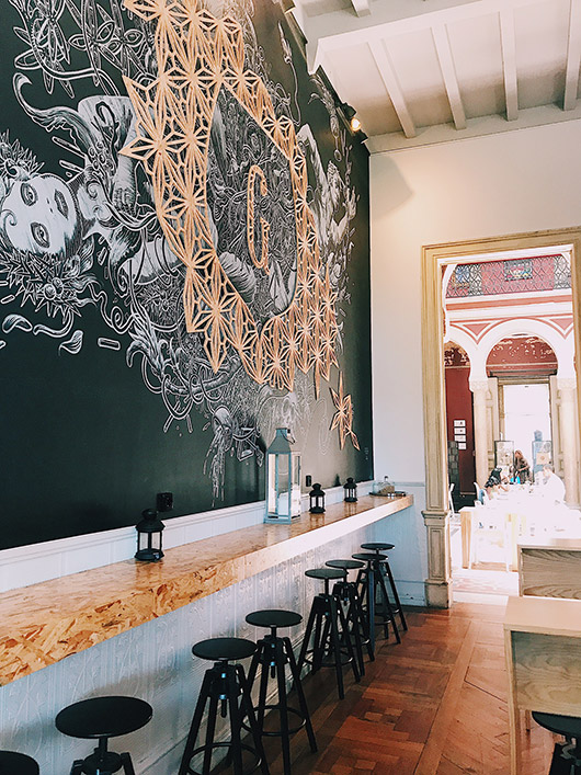 ornate decor in cafe in lisbon. / sfgirlbybay