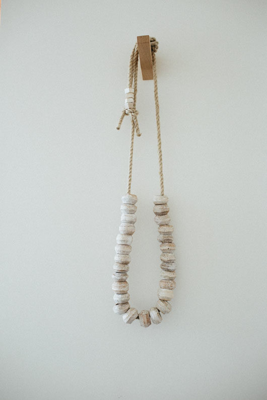ceramic and rope necklace. / sfgirlbybay