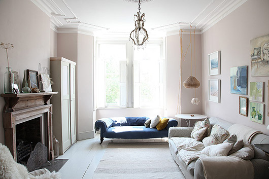 pastel pink walls in Victorian light locations home. / sfgirlbybay