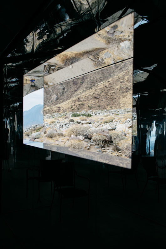 looking out the window at doug aitken mirage in palm springs. / sfgirlbybay