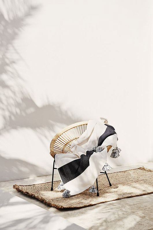 acapulco chair with tassel throw blanket. / sfgirlbybay