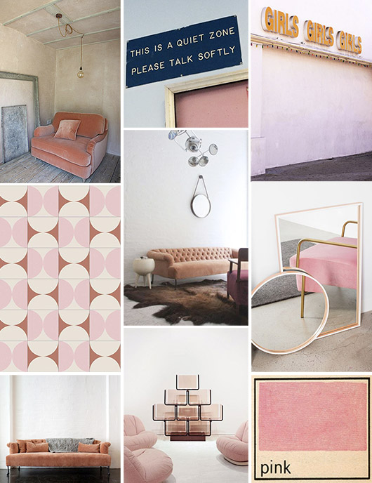 pink furniture and inspirational images. / sfgirlbybay