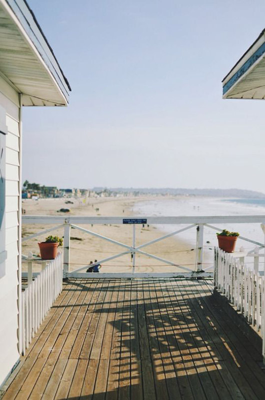 deck with a beach view. / sfgirlbybay