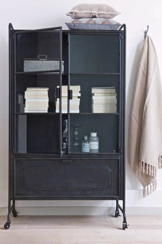 black cabinet with curated decor. / sfgirlbybay