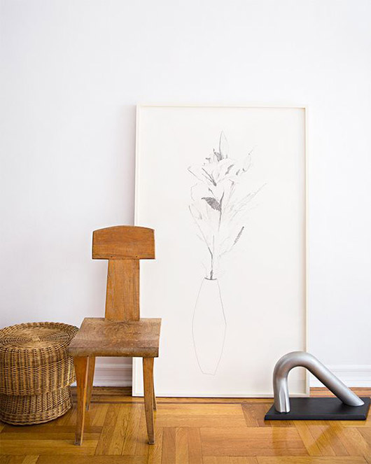 curated art collection in home of fashion designer maryam nassirzadeh. / sfgirlbybay