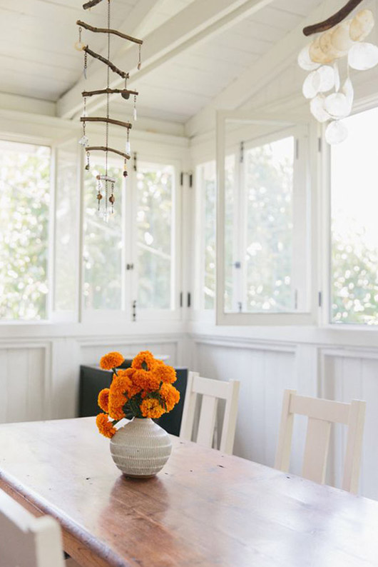 bright, fresh dining area inspiration. / sfgirlbybay